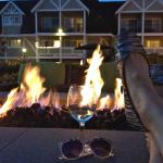 Fire pit, a glass of wine, feet up = ahhhhh