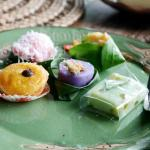 Colorful delicious traditional kue
