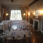 Library being prepared for the wedding breakfast