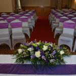 Room dressed for the ceremony