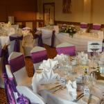 Room dressed for the Wedding breakfast
