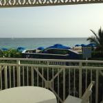View from our villa patio - steps from the beach