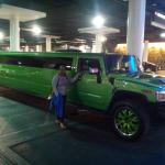 having a photo with the limousine