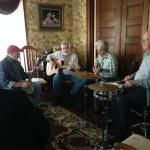 Our parlor jam session.