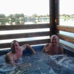 Hot tub after a hard days fishing.