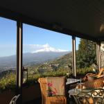 View of Mt Etna from the dining room