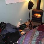 Not much room around the beds and the gas stove is pretty warm for the person sleeping next to i