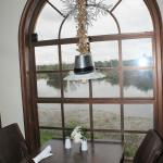 View of the lake from the dining room