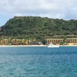 View from across Lindbergh Bay towards Best Western Emerald Beach resort.