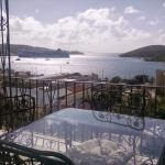 View from the upper breakfast terrace towards Charlotte Amalie