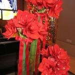 Heavenly scented Amaryllis all about the hotel's lobby-beautiful