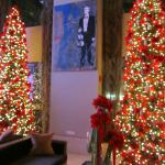 Christmas trees in the hotel lobby, near check in.  Gorgeous and festive.