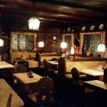 Inside the restaurant