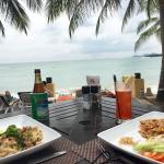 So tasty kitchen with beautiful view at the beach restaurant