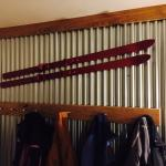 Coat rack in room