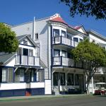 The front view of the Hermosa Hotel