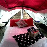 Chandelier inside your tent for ultimate luxury