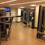 A couple of TVs in the gym. This is next to laundry room, so you can work out and do laundry at