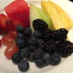 Top-notch fresh-cut fruit at Michael Mina's B/fast buffet