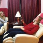 Our teenaged daughters loved the massage chairs.