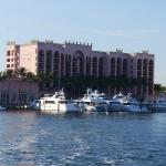 The Yacht Club as seen from the Mizner's Dream shuttle boat to the Beach Club