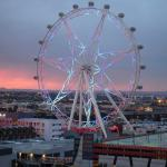 Melbourne Star at sunset from balcony