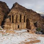 Awesome snowy day at Petra today. Great to be back for a warm shower