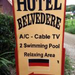 Sign for Hotel Bellevedere
