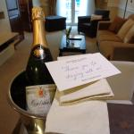 Champagne that was brought up to our room as part of their Facebook promotion.