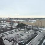 View from front 8th floor, lots of parking, walk to movie theater and several mid range eateries