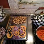 Roasted vegtables at The Bostwick House