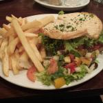 B.L.T with chips and salad