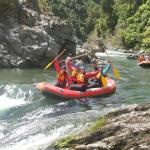 Rafting before our Fantastic stay at River Valley Lodge