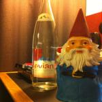 €8 Evian bottle of water and the @RoamingGnome