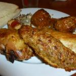 Kutletke and chicken thigh and meatballs
