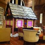 Gingerbread house in Lounge