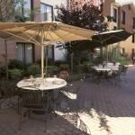 Outdoor patio dining area