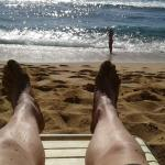 Relaxing on beach 2 minutes from my room