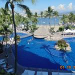 Looking at the pool from our balcony