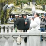 Filming crew in Old City