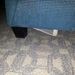 bottom of pullout couch