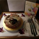 Birthday Cake, compliments by the hotel