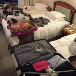 Not much space for luggages after adding extra bed