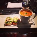 Crab and lobster bisque starter