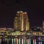 MArriott Waterside Hotel & Marina from across the Hillsborough River in downtown Tampa. Florida