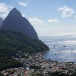 Town of Soufriere with Pitons