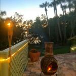 Sit by the chimera and tiki torches as you take in your sunset each night.