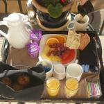 Complementary Breakfast delivered to the room