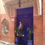 The amazing front door to the Riad