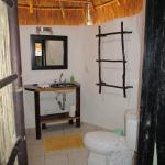 the bathroom was very spacious & has pressurized water!